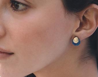Blue Gemstone Earrings Gold Aqua Chalcedony Earrings Tiny Dangle Earrings Tiny Gemstone Earrings Turquoise Earrings Aquamarine Earrings