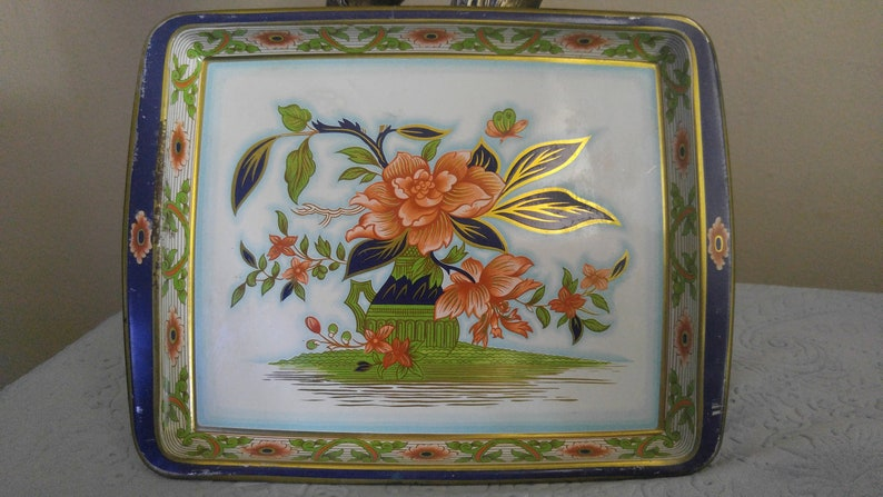 Vintage Daher Decorated Ware Tin Tray Made In England Etsy