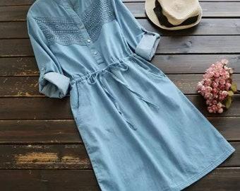 Knee lenght cotton dress