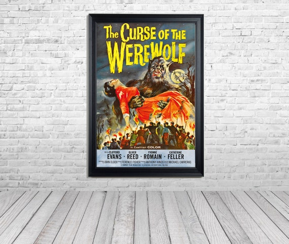 DOWNLOAD-1961 Movie Poster, Curse of the Werewolf, Enhanced and restored by the photo Wizard at WWFA