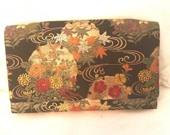 Vintage M. Yamamoto & Co Silk Clutch Handbag