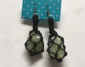 Macrame crystal earrings