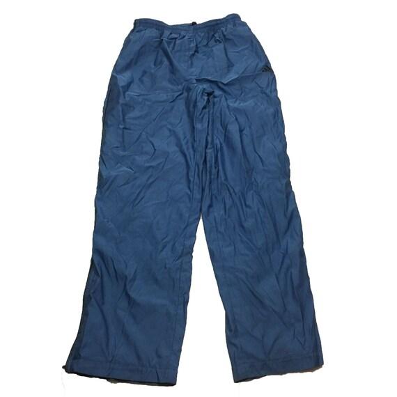VTG Adidas Men's Blue Athletic Workout Track Pants Size Large L
