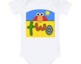2 Year Old Birthday Elmo Peeking T Shirt 2nd Theme