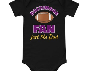 97a2f2963 Dad's Birthday Gift Baltimore Football Fan Just Like Dad T-Shirt