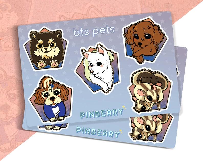 kpop BTS Pets Sticker Sheet (Pack of 2)