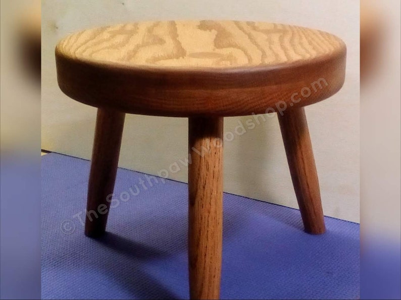 Marvelous Three Legged Stool Oak Milk Stool Accent Furniture Modern Wood Plant Stand 3 Legged Stool Wood Stool The Southpaw Woodshop Caraccident5 Cool Chair Designs And Ideas Caraccident5Info