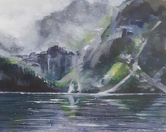 Morskie Oko, Poland acrylic painting