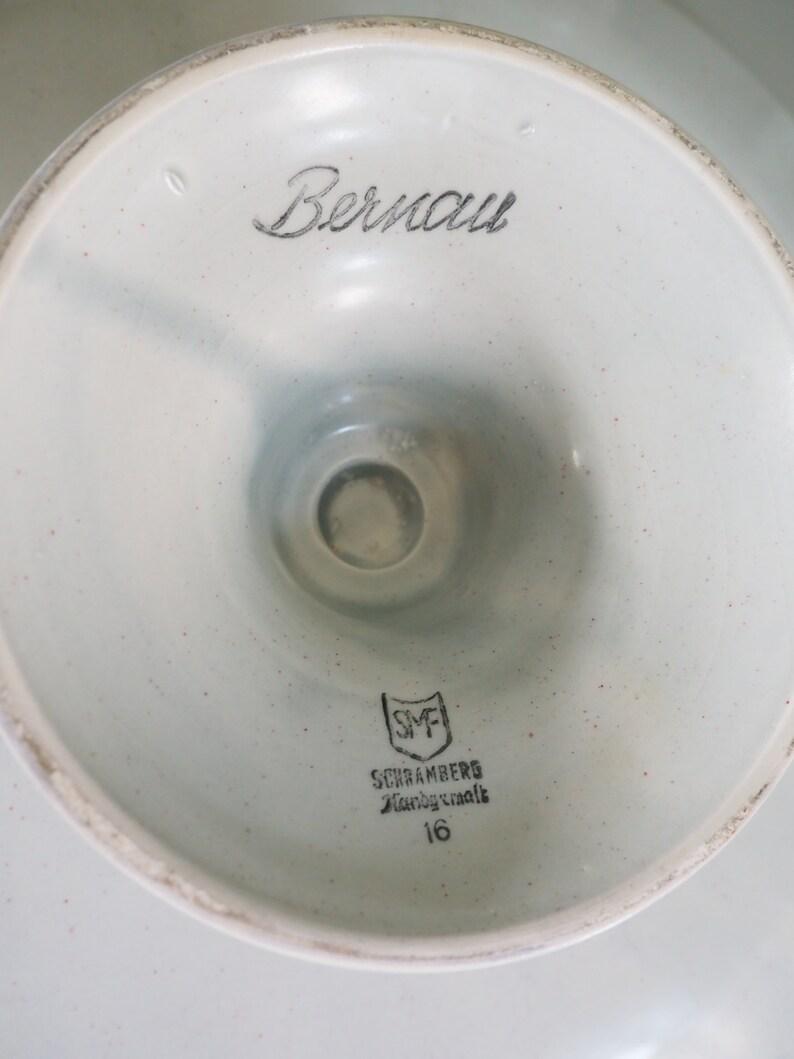 Bernau West Germany Sabau Mid century Hand decorated Cakeplate Good vintage condition