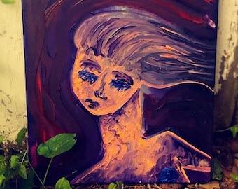 Hair In Wind Painting