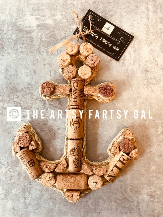 Wine Cork Shapes Wall Hanging Home Decor Anchor Arrow Etsy