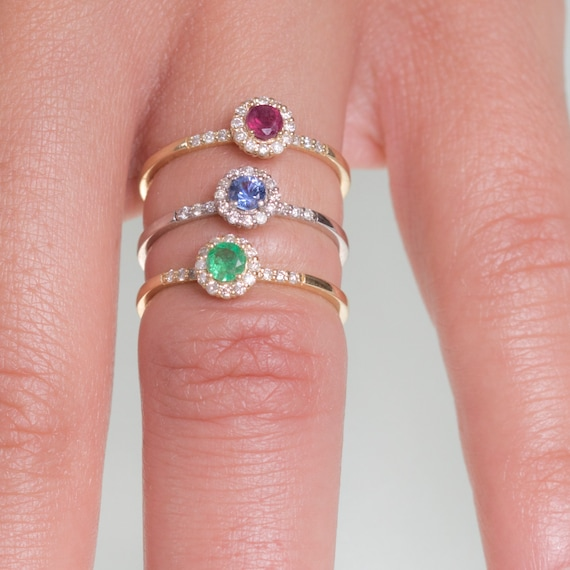 bague diamant rubis saphir