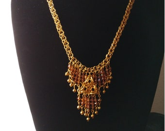 Topaz Brown Crystal Necklace