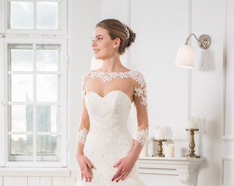480a2ff0d44 Bridal Lace Top Bohemian Wedding Dress Top With Sleeves Sweetheart Neckline  Lace Bodice Bridal Separates Custom Corset Top Wedding Bodysuit