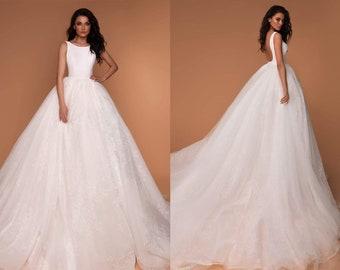 7b6ec968c3 Tulle Wedding Dress Formal Long Backless Bridal Dress Long Train Tutu Skirt  Wedding Bridesmaid Maxi Skirt Bridal Wedding Dress Puffy Skirt