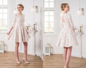 Pink Short Wedding Dresses