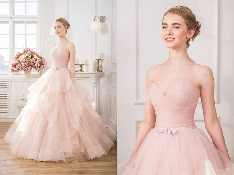 2a7efea124db1 Plus Size Wedding Gown Prom Dress Ball Gown Pink Maternity   Etsy