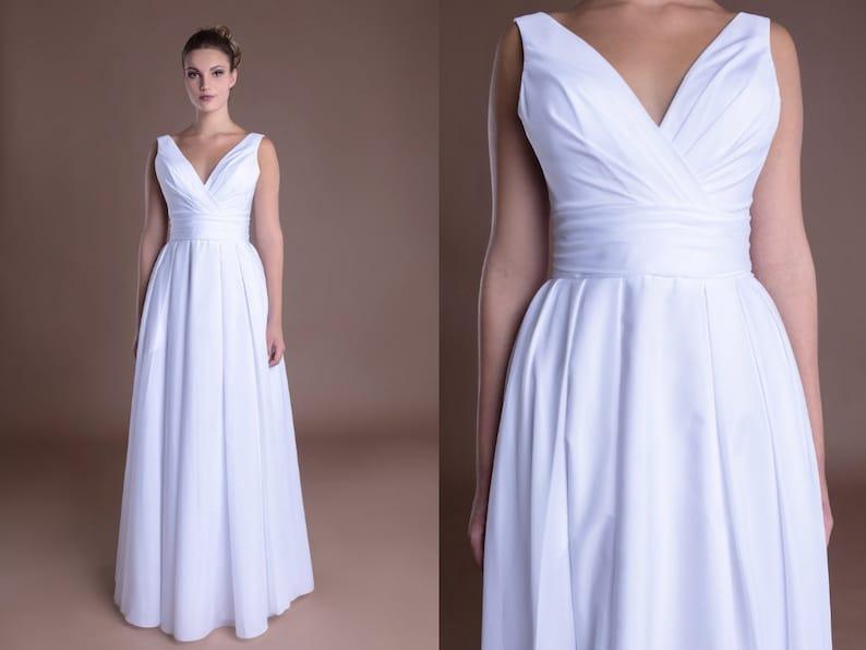 Simple Silk Prom Dresses