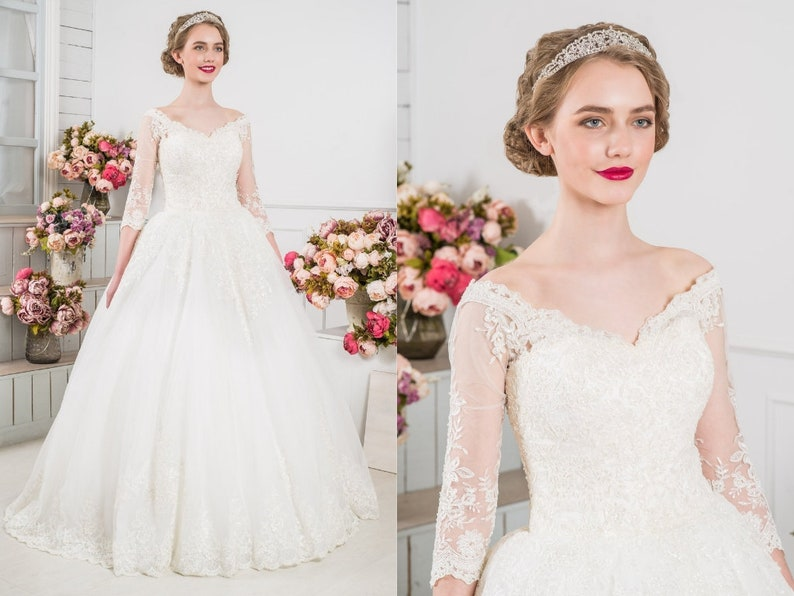 Lace Fairy Traditional Wedding Dress 2019 Floral Top