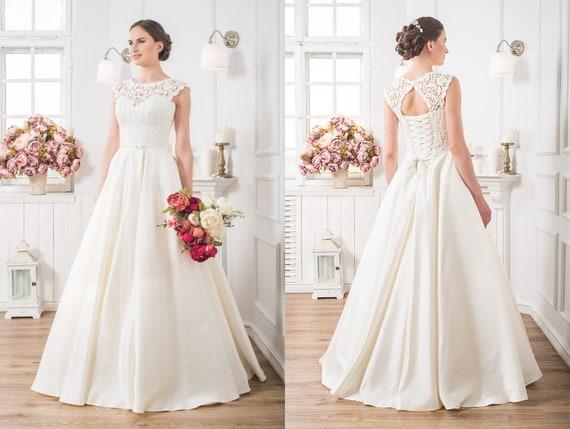 Rustikale Vintage Hochzeit Kleid Land Hochzeit Kleid Spitze Etsy