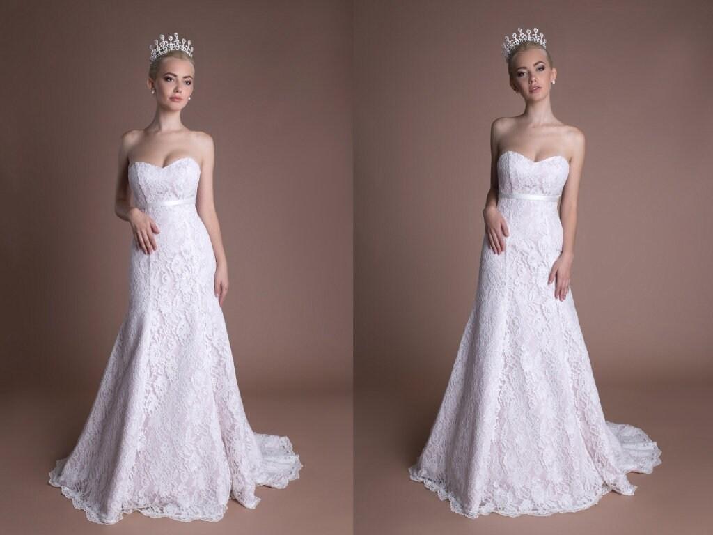 Mermaid Modest Prom Dress Wine Lace Sheath Wedding Dress Etsy