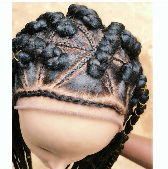 Sade Triangle African Braids With Inbtwn Cornrows Full