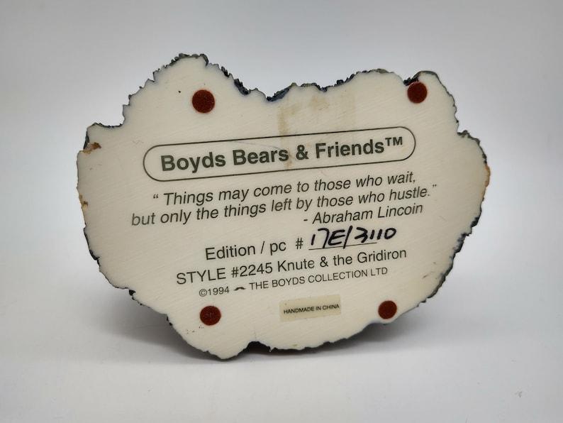 Boyds Bearstones Knute /& the Gridiron Football Player Resin Figurine