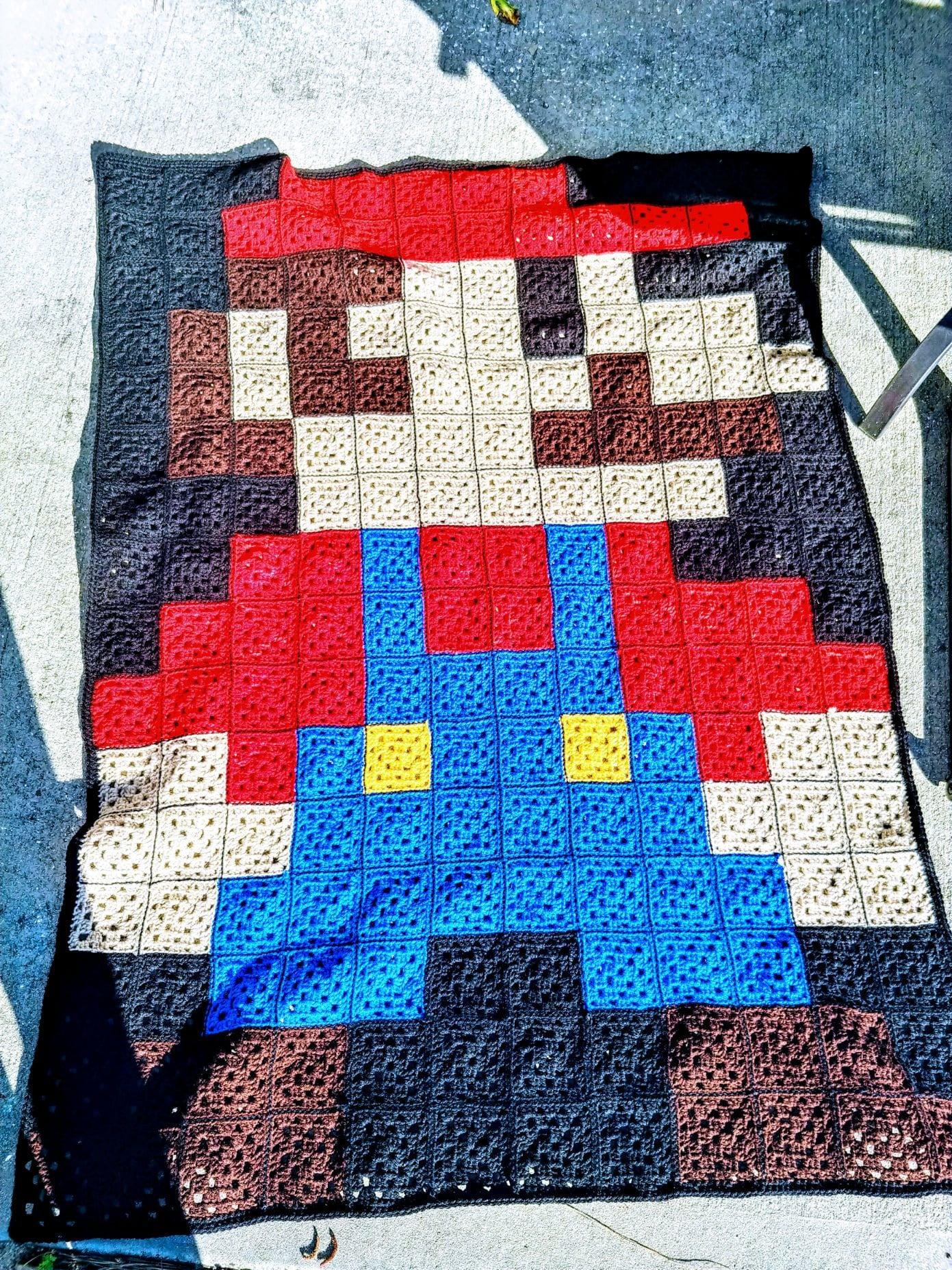 8 Bit Mario ou Luigi Blanket