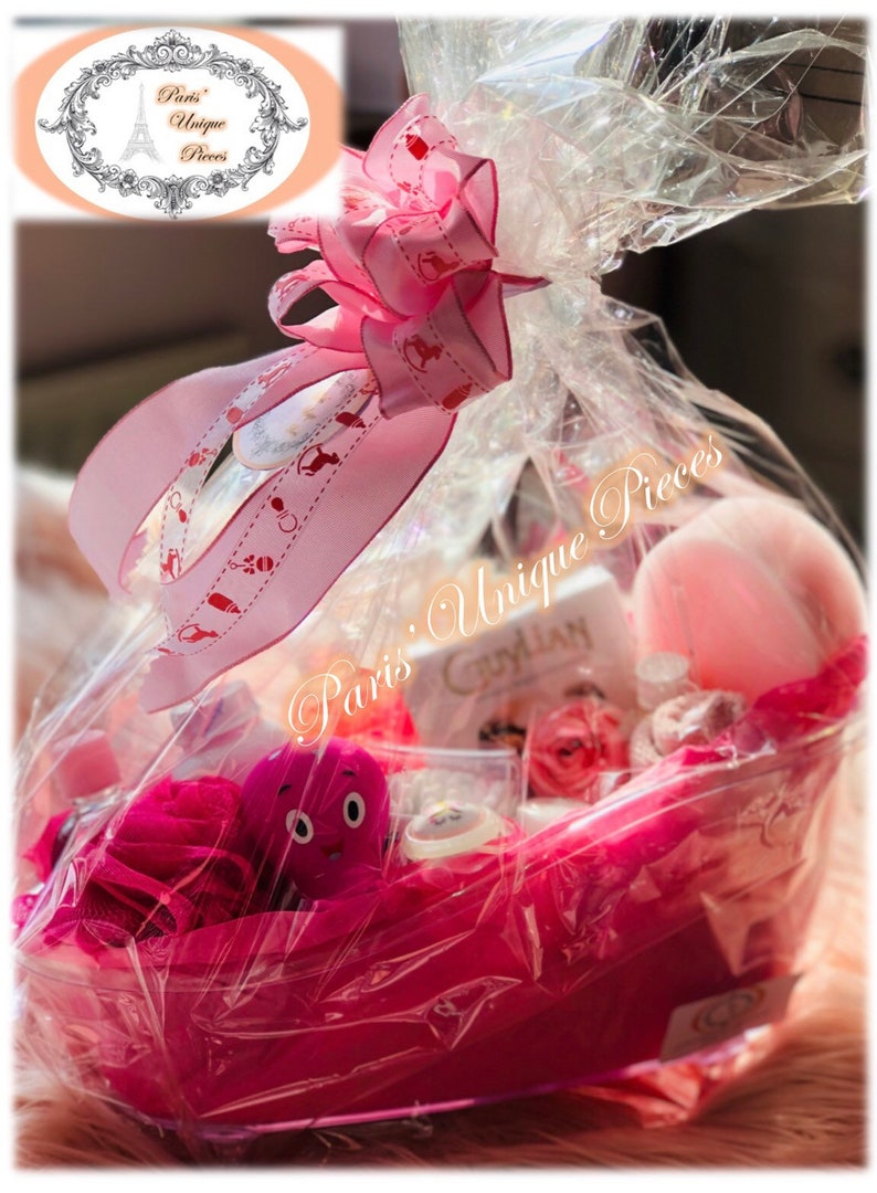 Baby Girl Pink Hamper Baby Shower Etsy