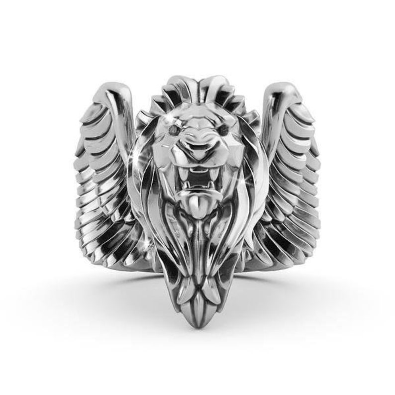 King Of Lion Ring Sterling Silver 925 image 5