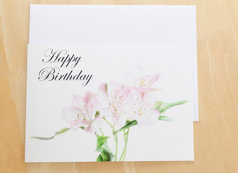 Happy Birthday Card Flower Picture Floral