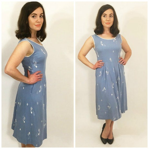 1950s Nautical Pin-Up Vintage Sundress