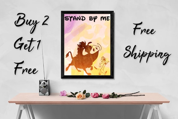 4294d65fb36 Timon and Pumba Art Print-Timon and Pumba Art-Disney | Etsy