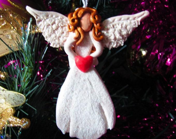 "Angel Christmas tree decoration. ""Clementine"" hanging angel."