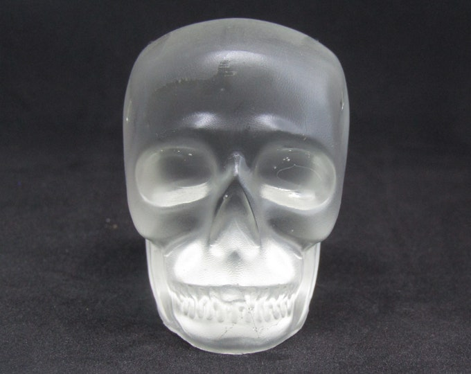 Skull Paperweight or ornament. Translucent Resin.
