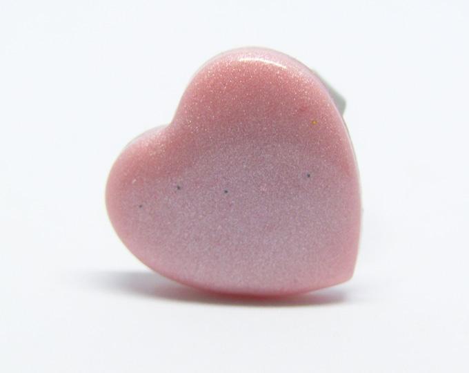 Fun Pink Heart Adjustable Ring