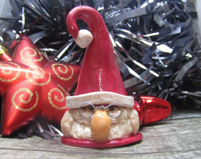 Father Christmas Ornament. Tomte and Nisse inspired.