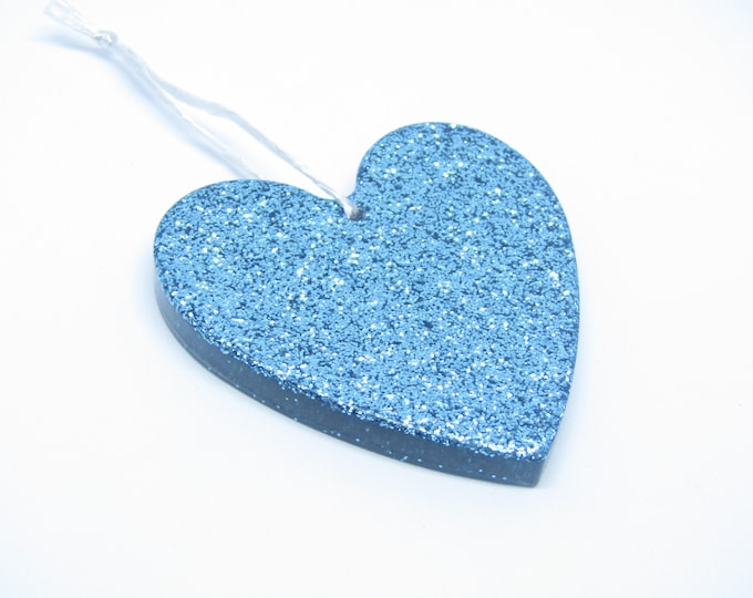 Turquoise Heart. Wall Hanging Ornament. Or Christmas Tree Decoration. Large.