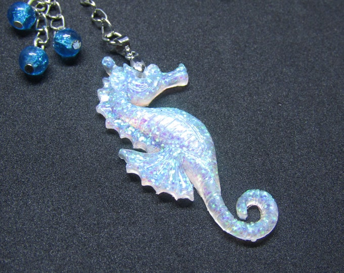 Seahorse Resin Keyring/ Keychain or bag charm