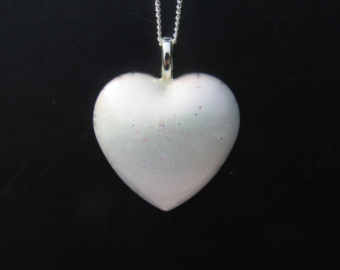 Resin Heart pendant necklace.