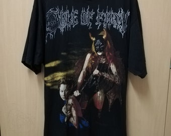 ec428d66 Vintage Cradle of Filth T-shirt 90s Marilyn Manson Black Metal Cannibal  Corpse Obituary Mayhem Marduk