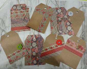 Decorative Gift Tags, handmade, present tags, gift bag tags
