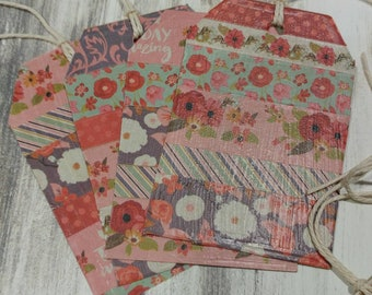 Gift Tags, decorative  floral