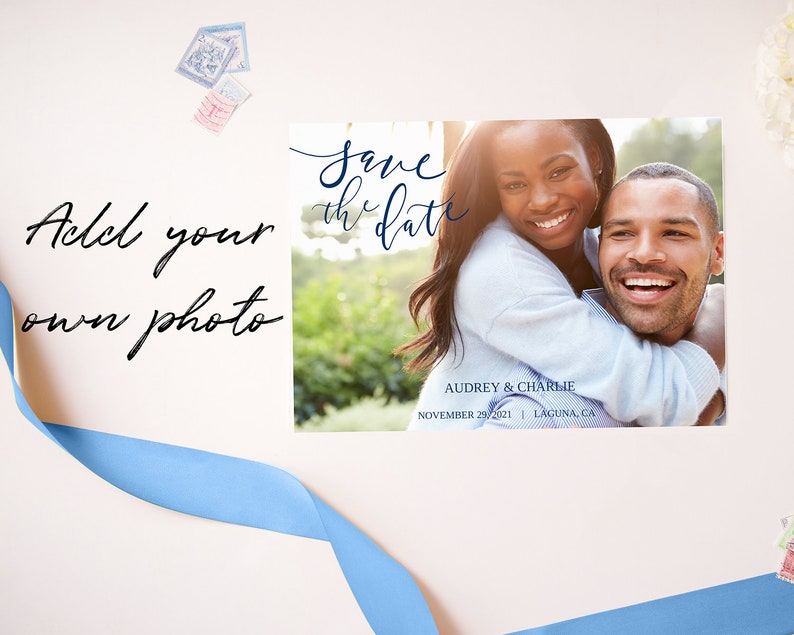 Save The Date Template PRINTABLE Personalized Save the Date Cards Save the Date Card Digital Download Save the Date Postcard