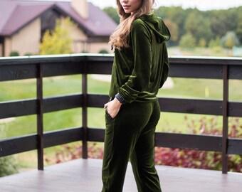 240d710222fe Hoodie velvet suit women