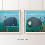 Meet under the sea Illustration Poster Print / poster Double 30 x 30 child birth