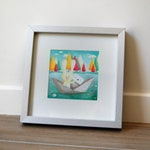 The words float up to you Poster Illustration / small square