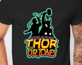 Thor and Doctor Jones Big Bang Theory T-shirt for Men and Women, Funny shirt, Cotton, Gift for friend, S M L XL XXL