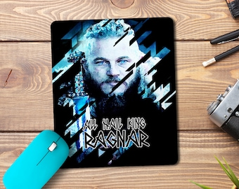 Ragnar Mouse Pad, Vikings, Custom Mouse Pad, Play mat, Gamer Gift, Office Gift, Laptop Accessories, Mouse Mat