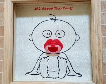 All About The Pout! 3D box frame, Baby Girl Gift (Can be personalised)